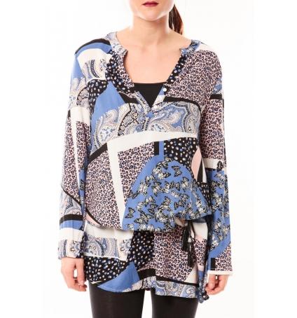 De Fil en Aiguille Tunique Love Look 1102 Bleu
