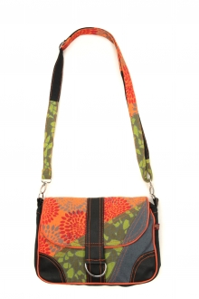 Bamboo's Fashion Petit Sac Besace New Dehli GN-144 Orange/Vert