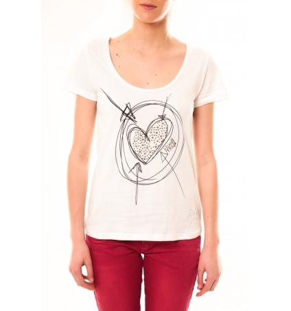 Desigual T-Shirt Elisa 51T25D6 Blanc