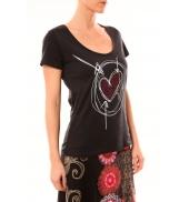 Desigual T-Shirt Elisa 51T25D6 Noir