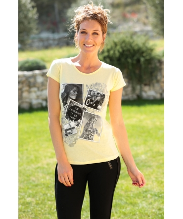 TCQB T-Shirt NAD Photo Jaune