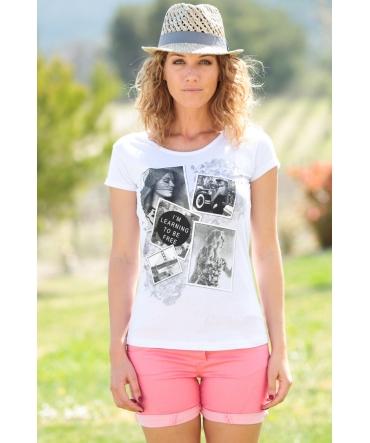 TCQB T-Shirt NAD Photo Blanc
