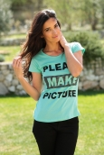 TCQB T-Shirt NAD Please Vert d'eau