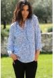 De Fil en Aiguille Blouse Zinka Plus ZKC005 Bleu