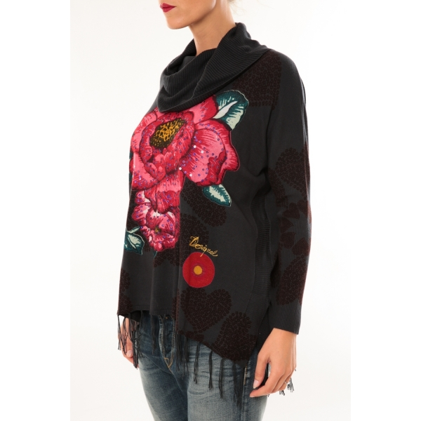 ... Desigual Pull Ample Bell 57J21J2 anthracite ...