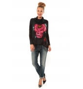 Desigual Pull Ample Bell 57J21J2 anthracite