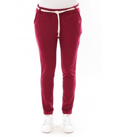Pantalon Sandra bordeaux