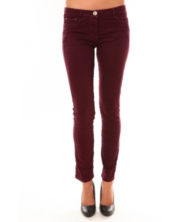 Pantalon C601 bordeaux
