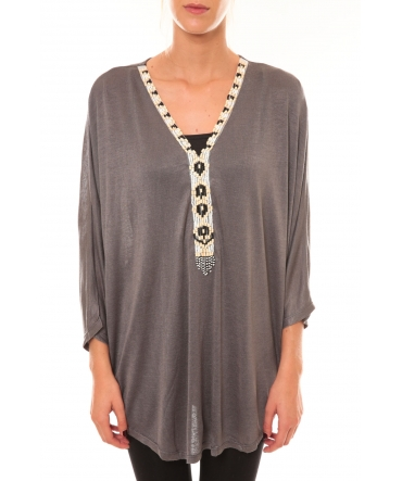 Top ample M3112 gris