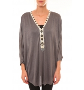Dress Code Top ample M3112 gris