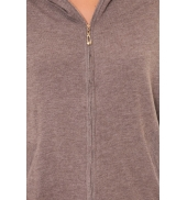 Sweat Company Sweat zippé L1039 marron