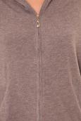 Sweat zippé L1039 marron