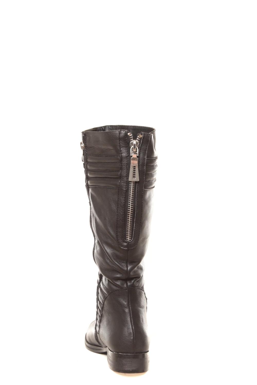 ilario ferucci bottes en cuir gaelane noir la vitrine de la mode. Black Bedroom Furniture Sets. Home Design Ideas