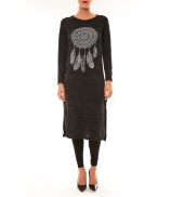 By La Vitrine Robe Plume anthracite
