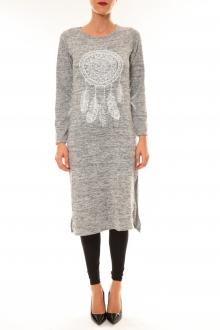 Robe Plume gris clair