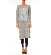 By La Vitrine Robe Plume gris clair