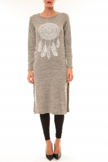 Robe Plume taupe