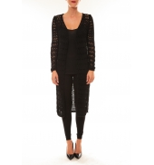 By La Vitrine Gilet long Paula noir
