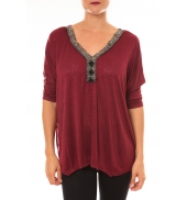 By La Vitrine Top R5550 bordeaux