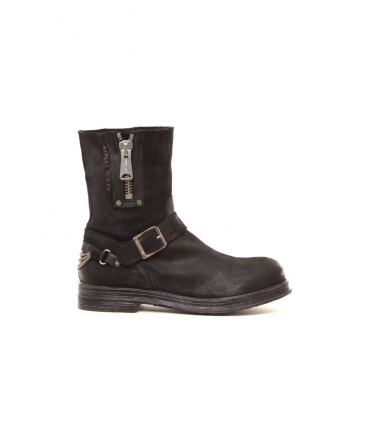 Bottines en cuir Ecle noir