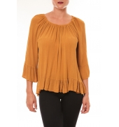 By La Vitrine Blouse Giulia moutarde