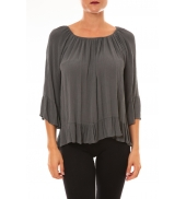 By La Vitrine Blouse Giulia anthracite