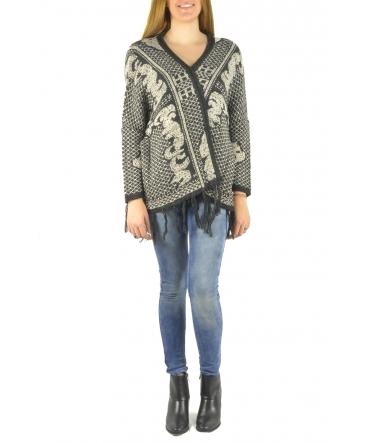 Barcelona Moda Gilet en laine 71171502 noir