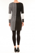Bamboo's Fashion Robe BAW1545 noir et blanc