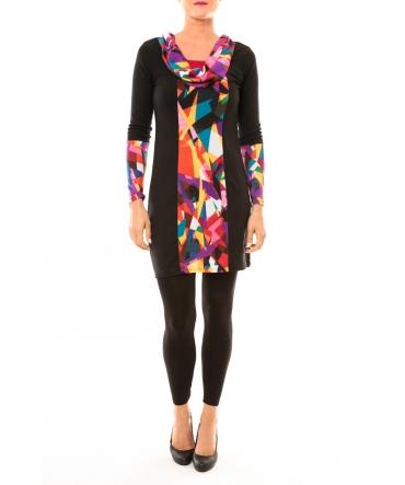 Bamboo's Fashion Robe Vintage/noir BW618 multicolor