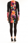 Bamboo's Fashion Robe Vintage/noir BW618 multicolor
