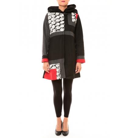 Bamboo's Fashion Manteau BW670 noir