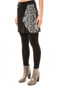 Bamboo's Fashion Jupe Chiner BW683 noir et blanc