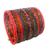 LVDLM Bracelet en perles Louisa rouge