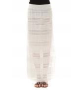 Jupe longue dentelle Blanche J302