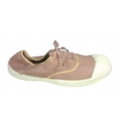 Bensimon Tennis à Lacets  Shinny Piping Mauve