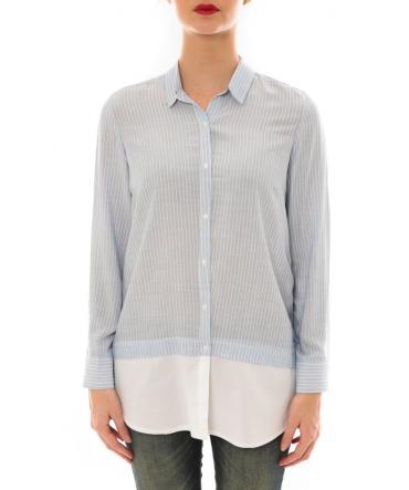 Chemise Samy  rayée Bleu/Blanc