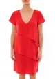 Robe 2 volants Vanille Rouge