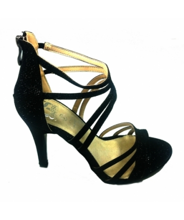Sandales Multibrides ouvert Noir Oria