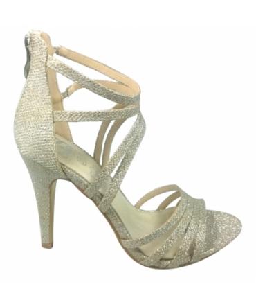 Sandales Multibrides Ouvert Oria Argent