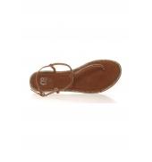 Sandales Plates Noire Kyriale