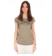 Tee Shirt Manches courtes motif irisé Kaki  S164006
