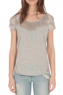 Tee Shirt Manches Courtes bimatière Perle S164501