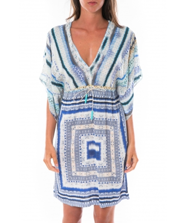 Ema Blues Robe Patchouli Bleu