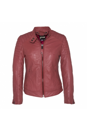 BLOUSON MOTARD AC EMPIECEMENTS MATELASSES SCHOTT Rose