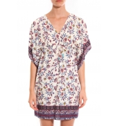 Ema Blues Robe Patchouli fleurs multicolor