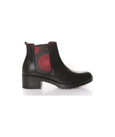 Desigual Bottines Shoes Bolas Rojas Charley Noir 67AS6C3