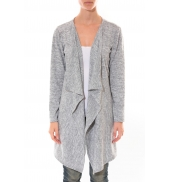 Cardigan Long Fashion Moda Gris