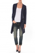 Cardigan Long Fashion Moda Bleu