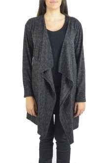 Cardigan Long Fashion Moda Noir