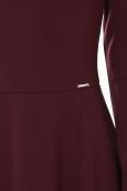 Robe Coquelicot Col V Bordeaux 16201